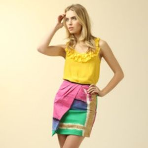 NWOT Walter Pleated Graffiti Skirt